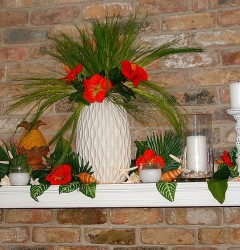 Tropical Decoration on Mantle