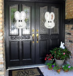 bunnies on door