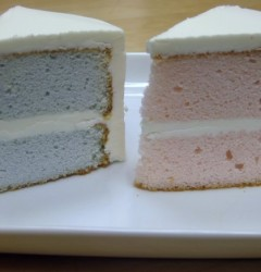 gender reveal cake_cut
