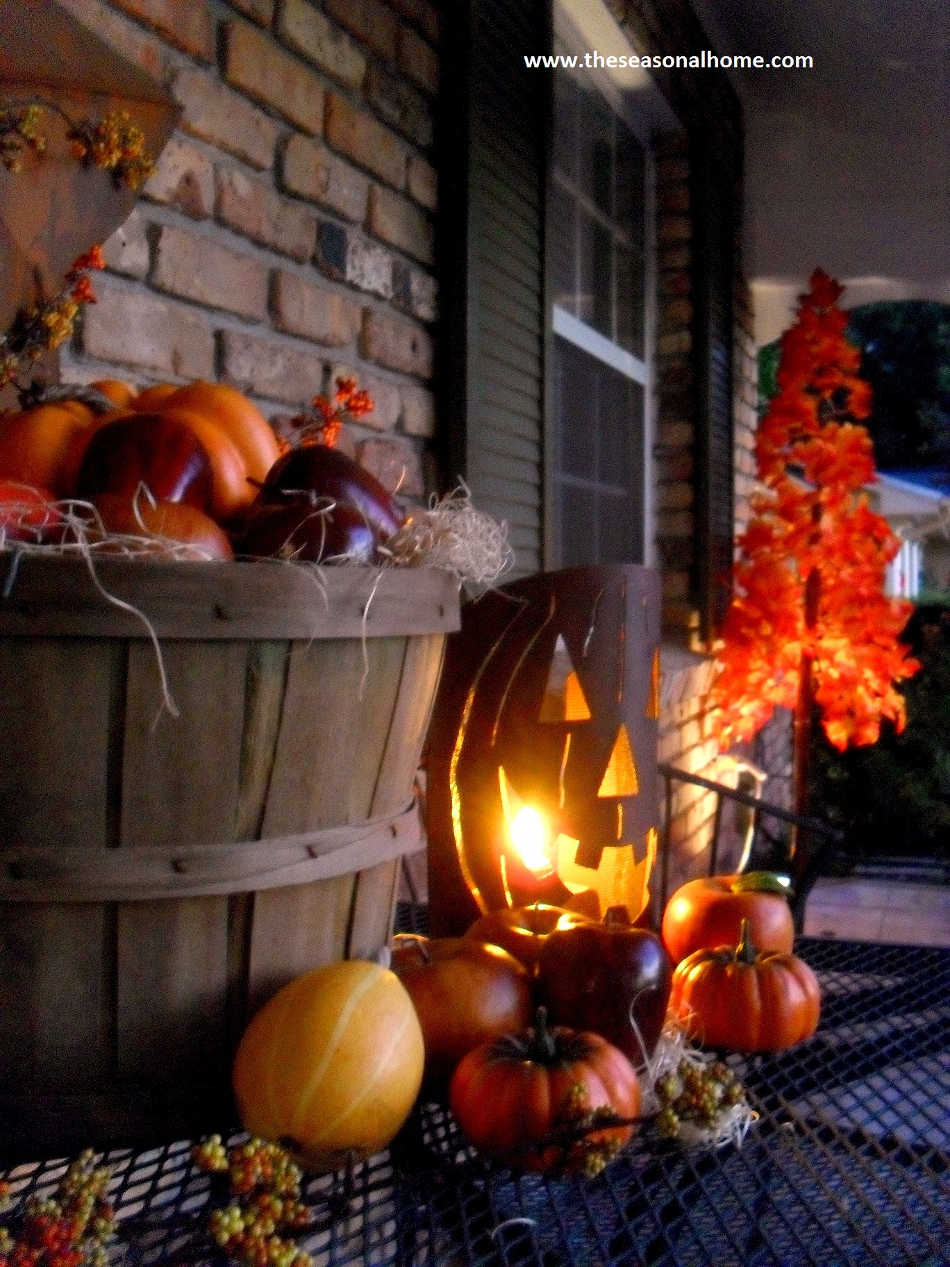 Fall has fell on the front porch the seasonal home for Decoration halloween