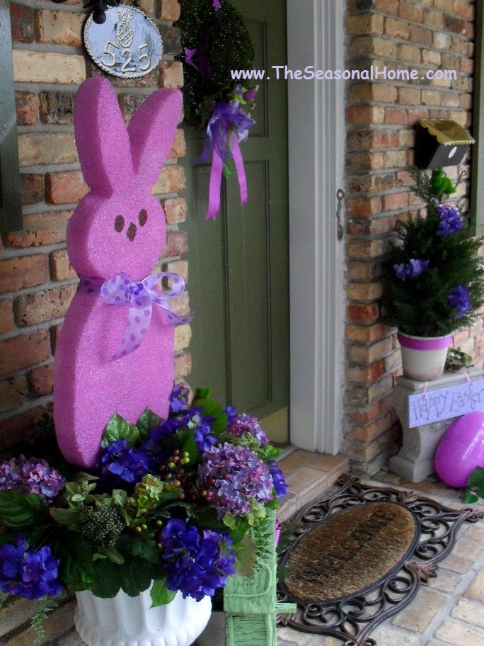 A passion for purple at easter the seasonal home for Spring yard decorations