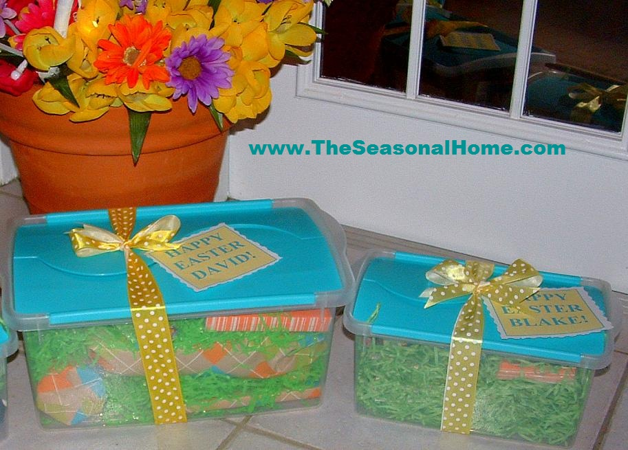 Easter basket alternative the seasonal home snew easter baskets negle Images