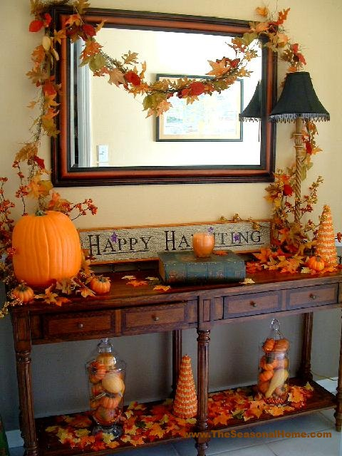 Front Entry Foyer Decor : Welcoming fall a front entry foyer design « the seasonal
