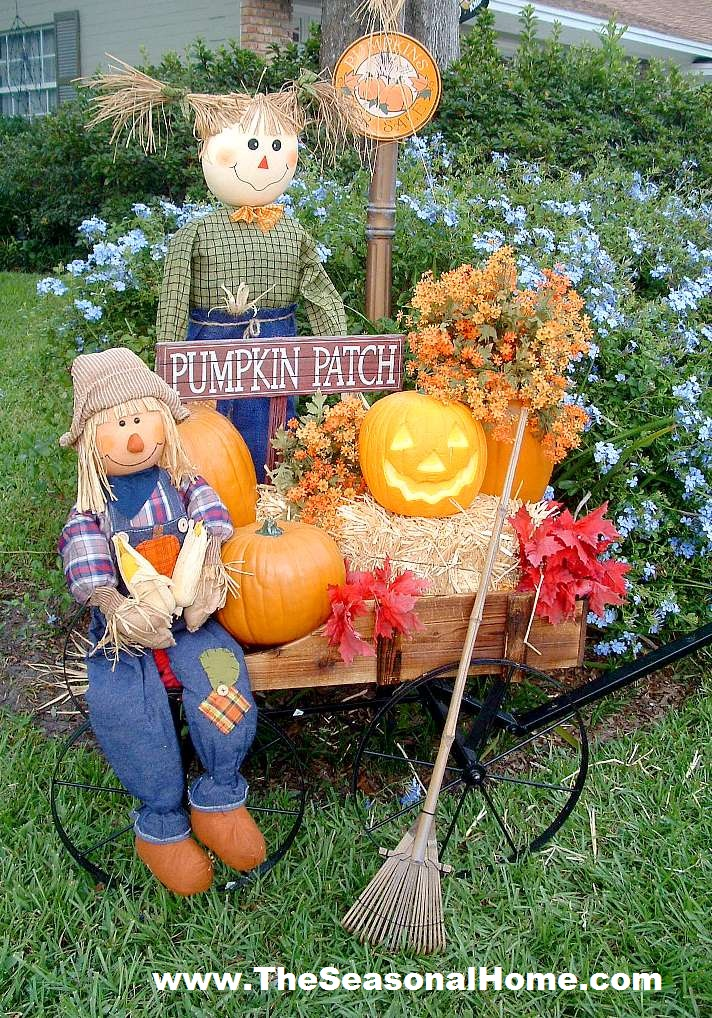 Fall yard decoration ideas the seasonal home for Front yard decorating ideas