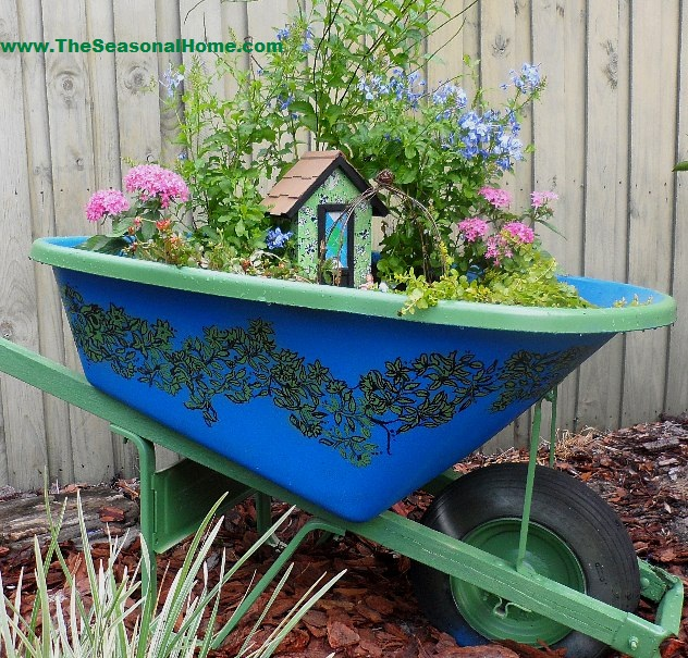Secret Fairy Garden In An Upcycled Wheelbarrow 171 The