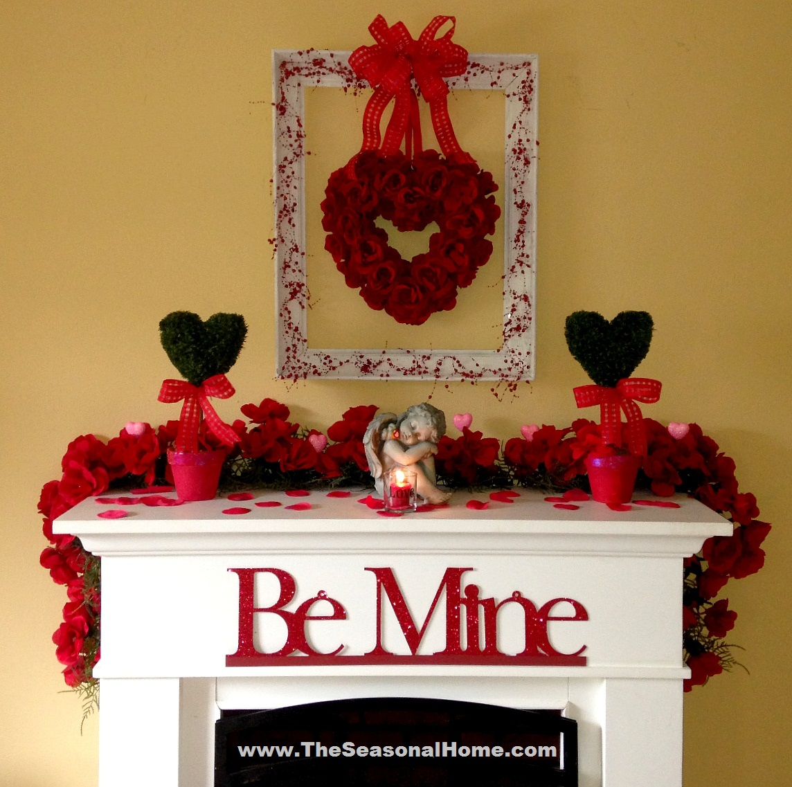 Valentine Home Decorations: Using Layers, Texture & DIY Art « The