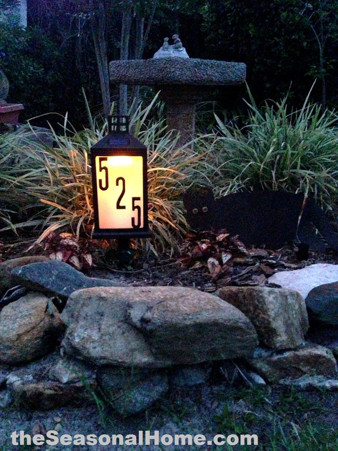 s_lit_garden & DIY (Solar) Address Signu2026 gift for Dad? « The Seasonal Home