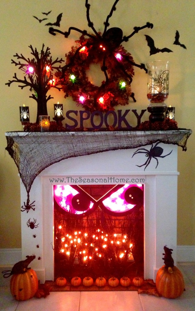 Spooky Fireplace for Halloween!  | The Seasonal Home