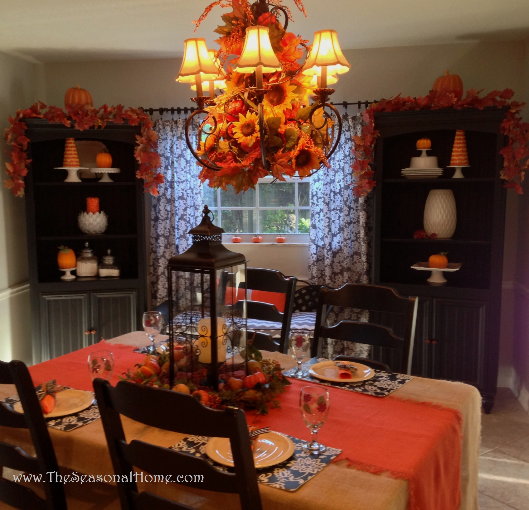 The Decorating Store: 3 Chandelier Ideas For: Fall, Halloween & Thanksgiving