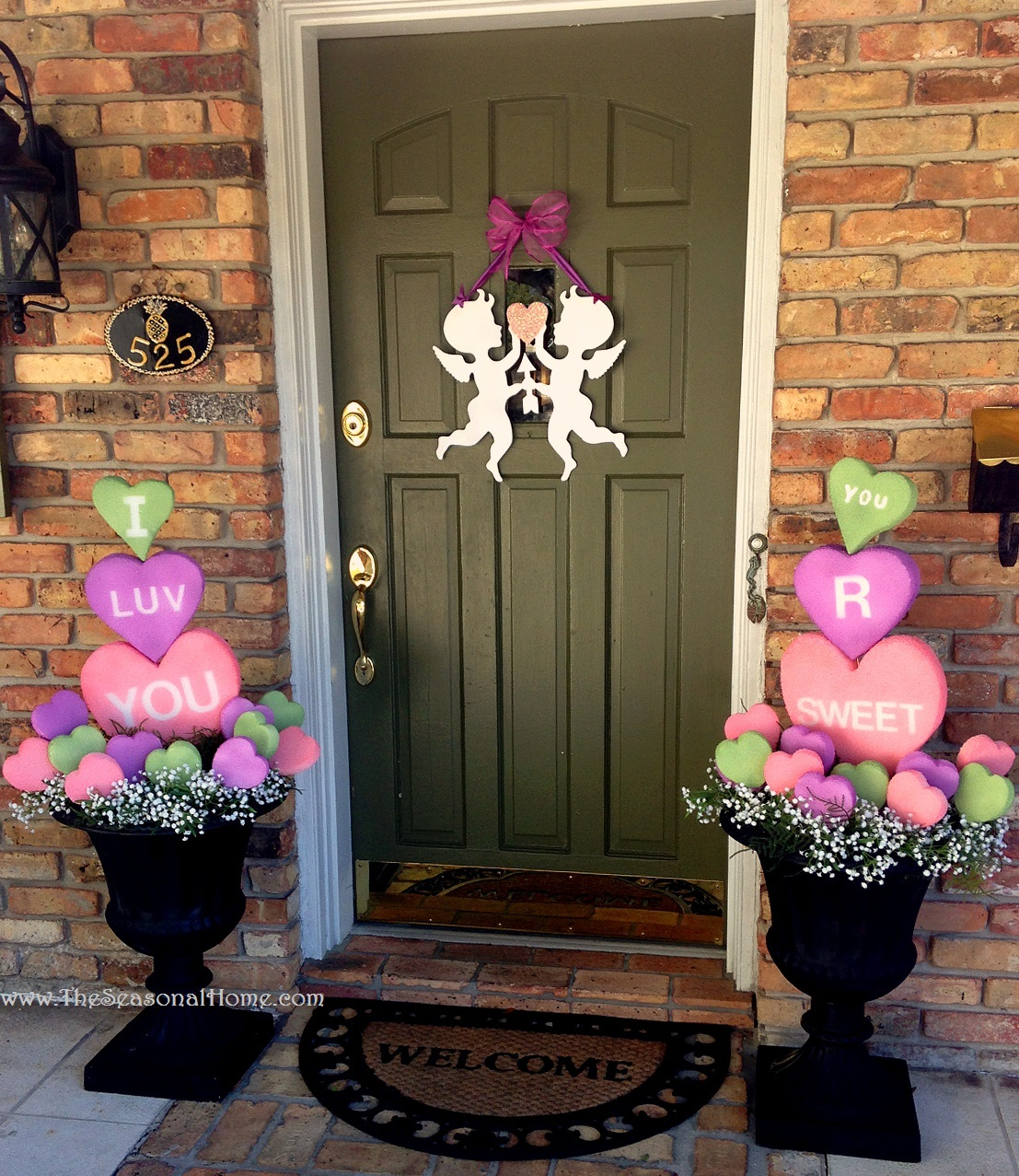 My re purposed valentine s day the seasonal home for Decorate for valentines day