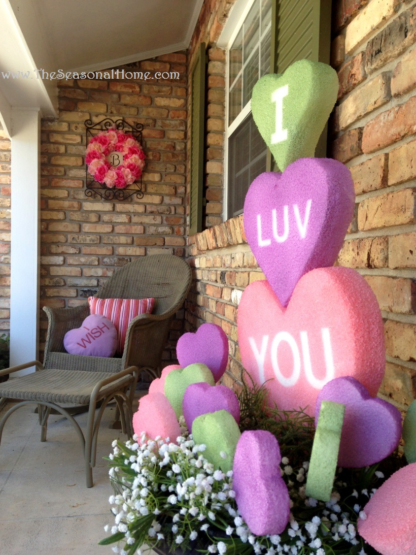 My re purposed valentine s day the seasonal home for Heart decorations for the home