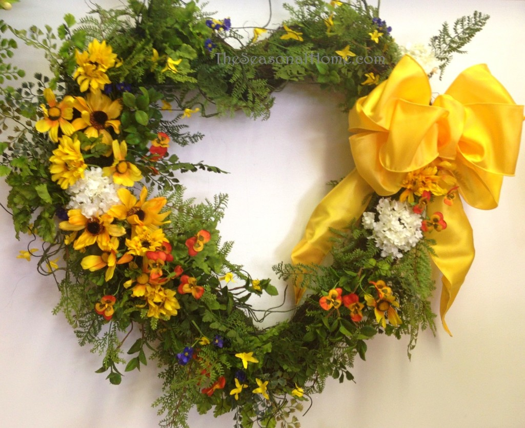 valentine wreath_yellow