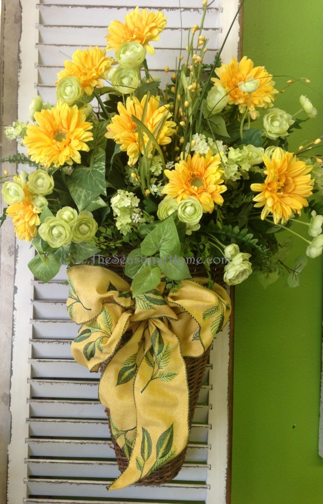 yellow wall basket