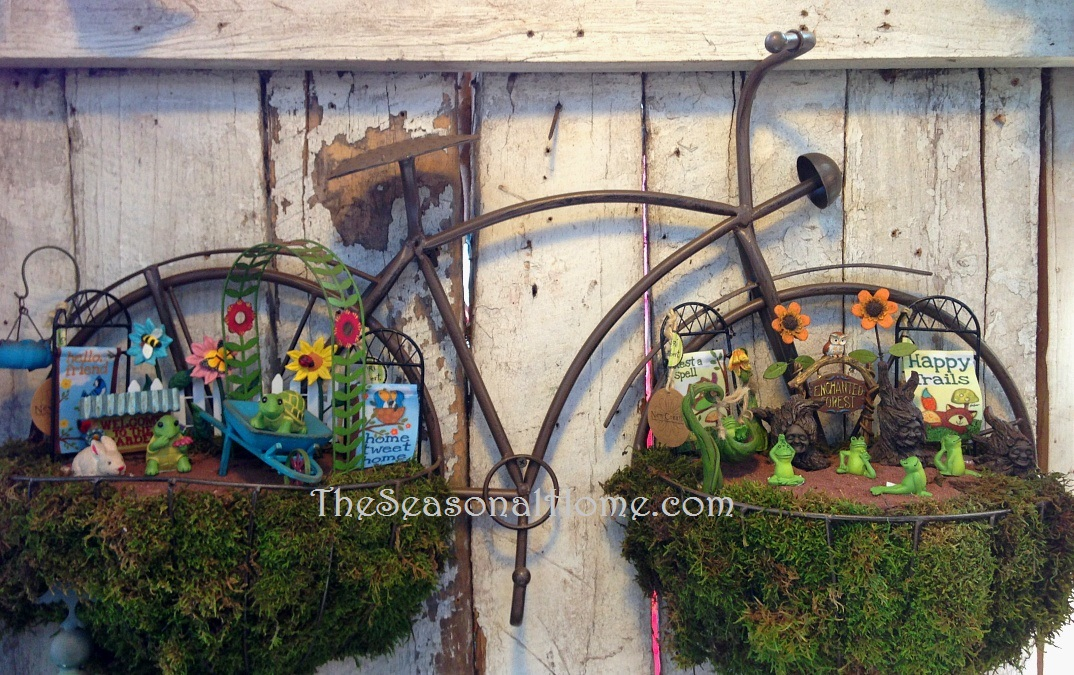 BIKE As Part Of Garden Wall Art