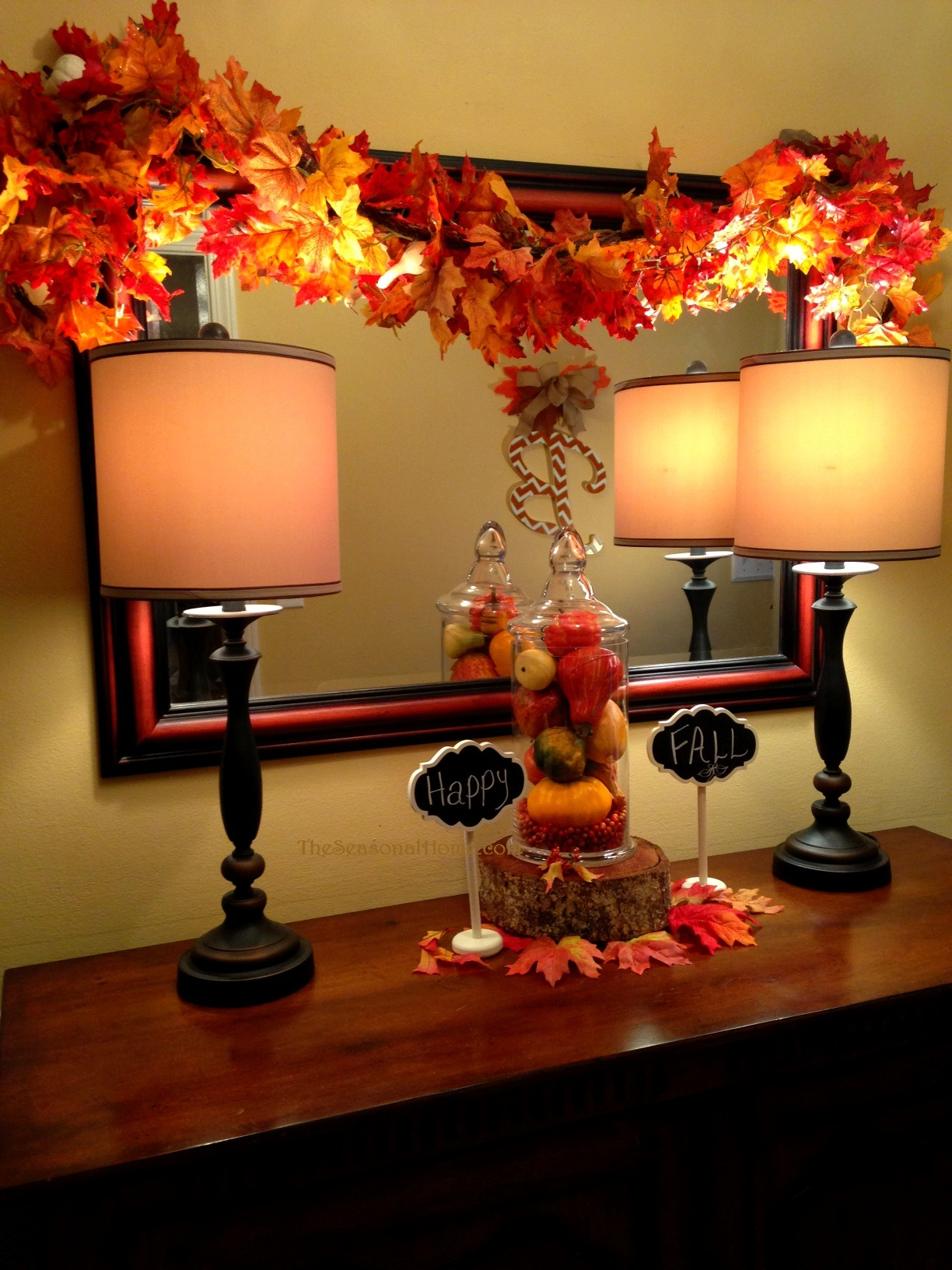 Foyer Accent Wall Ideas : Decorating ideas for fall monogram « the seasonal home