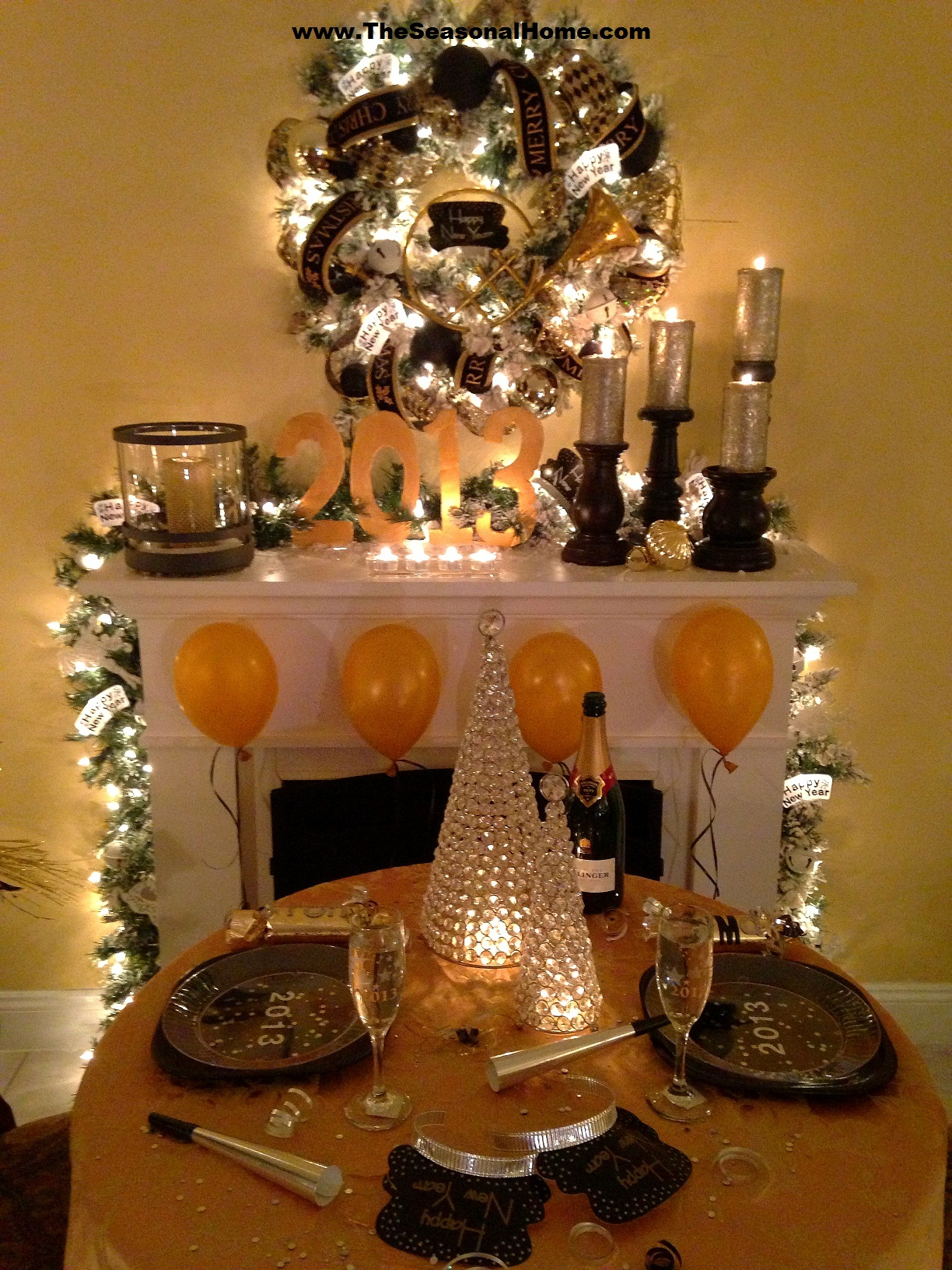 Cozy New Year's Eve Dinner Party (at home) « The Seasonal Home